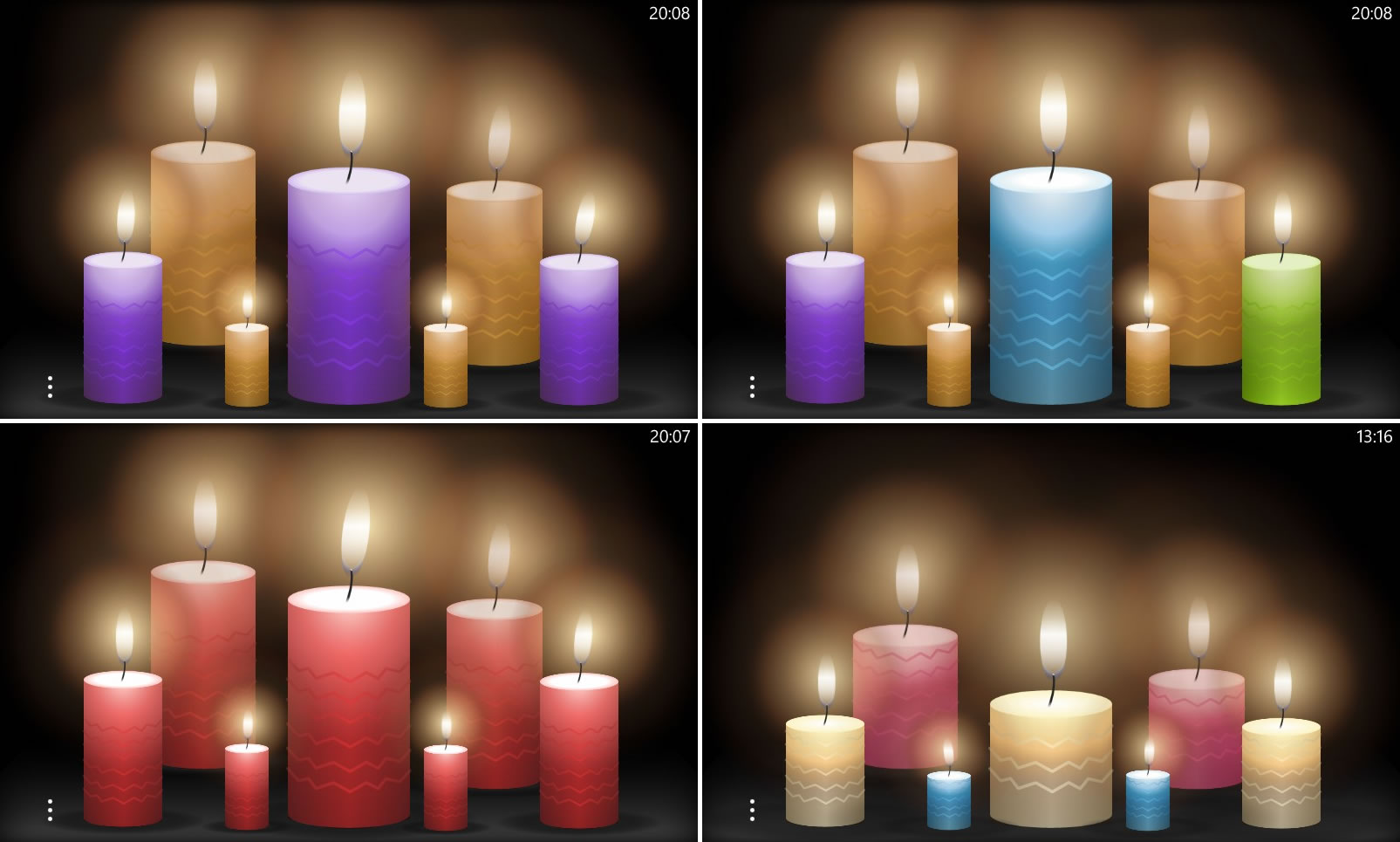 Different Candle Scenes