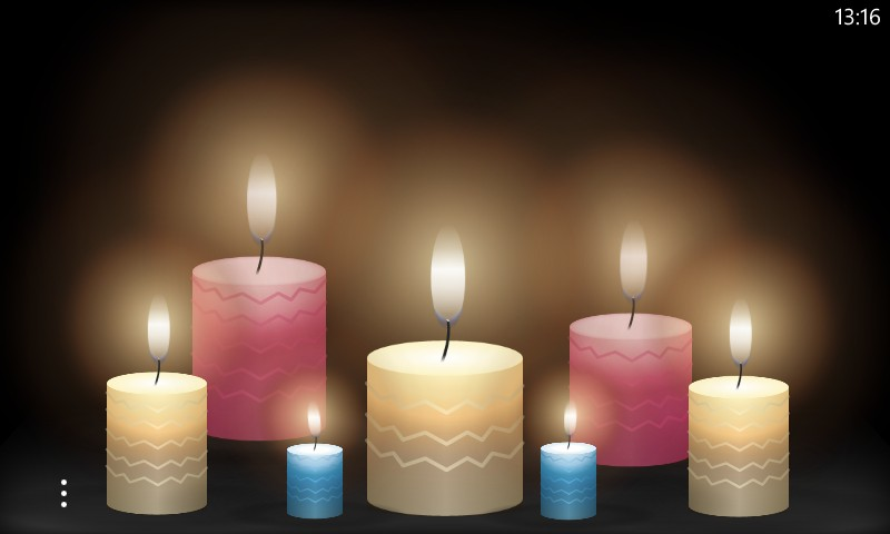 A candle scenery